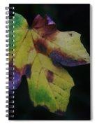 A Leaf Left Black And Blue  Spiral Notebook
