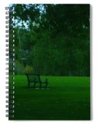A Lonely Autumn Bench  Spiral Notebook
