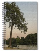 A Lonely Park Bench Spiral Notebook