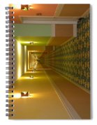A Long Hallway Flipped Sideways Spiral Notebook