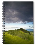 A Lush Green Landscape With Grassy Spiral Notebook