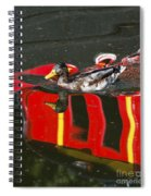 A Mallard Duck On The Canal Spiral Notebook