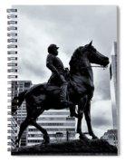 A Man A Horse And A City Spiral Notebook