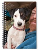 A Man And His Puppy In Wv Spiral Notebook