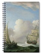 A Man-o'-war In A Swell And A Sailing Boat Spiral Notebook