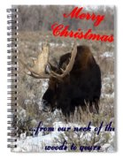 A Moose Christmas Wish Spiral Notebook