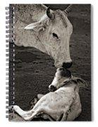 A Mother's Love Monochrome Spiral Notebook