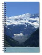 A Mountain Range With A Lake In The Spiral Notebook