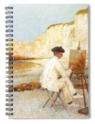 A Painter By The Sea Side Spiral Notebook