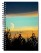 A Peek At The Moon Spiral Notebook