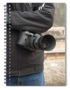 A Photographer With His Digital Camera On Location At A Historical Monument Spiral Notebook