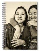 A Portrait Of Good Friends Spiral Notebook