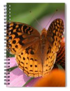 A Pretty Flying Flower Spiral Notebook