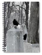 A Quiet Winter Day At The Graveyard Spiral Notebook