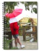 A Rainy Summer's Day Spiral Notebook