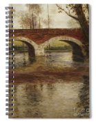 A River Landscape With A Bridge  Spiral Notebook