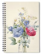 A Rose Anemone Mignonette And Daisies Spiral Notebook