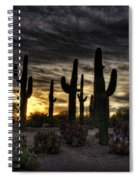 A Saguaro Sunrise  Spiral Notebook