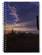 A Saguaro Sunset  Spiral Notebook