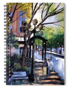 A Saturday Stroll  Spiral Notebook