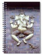 A Sculpture Of The Hindu God Ganesha Spiral Notebook