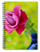 A Single Rose II Mother's Day Card Spiral Notebook