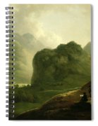 A Sketching Party In The Pass At Borrowdale Spiral Notebook