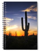 A Sonoran Sunset  Spiral Notebook