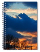 A Spring Sunset Spiral Notebook