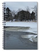 A Stream In Ice Spiral Notebook