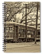 A Streetcar Named St. Charles Sepia Spiral Notebook