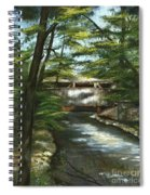 A Summer Walk Along The Creek  Spiral Notebook
