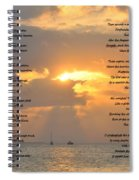 A Sunset A Poem - Victor Hugo Spiral Notebook