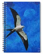 A Swallow And The Moon Spiral Notebook