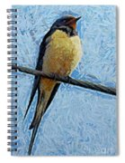 A Swallow On A Wire Spiral Notebook