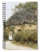 A Thatched Cottage Near Peaslake Surrey Spiral Notebook