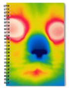 A Thermogram Of A Long Haired Cat Spiral Notebook
