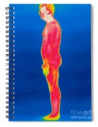 A Thermogram Of A Nude Man Profile Spiral Notebook