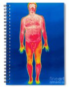 A Thermogram Of A Nude Man Spiral Notebook