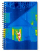 A Thermogram Of A Person Waving In House Spiral Notebook