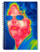 A Thermogram Of A Woman With Glasses Spiral Notebook