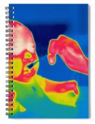 A Thermogram Of Feeding A Baby Spiral Notebook