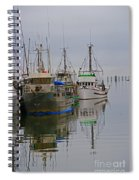 A Touch Of Blue And Green Spiral Notebook