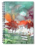 A Town On Planet Goodaboom Spiral Notebook