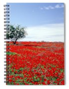 A Tree In A Red Sea Spiral Notebook