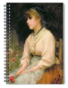 A Venetian Flower Girl Spiral Notebook