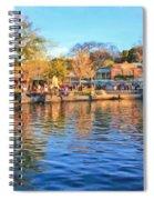 A View Of Disneyland From Tom Sawyer Island  Spiral Notebook