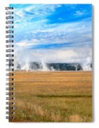 A View Of Geysers  Spiral Notebook