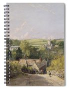 A View Of Osmington Village With The Church And Vicarage Spiral Notebook