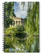 A View Of The Parthenon 16 Spiral Notebook